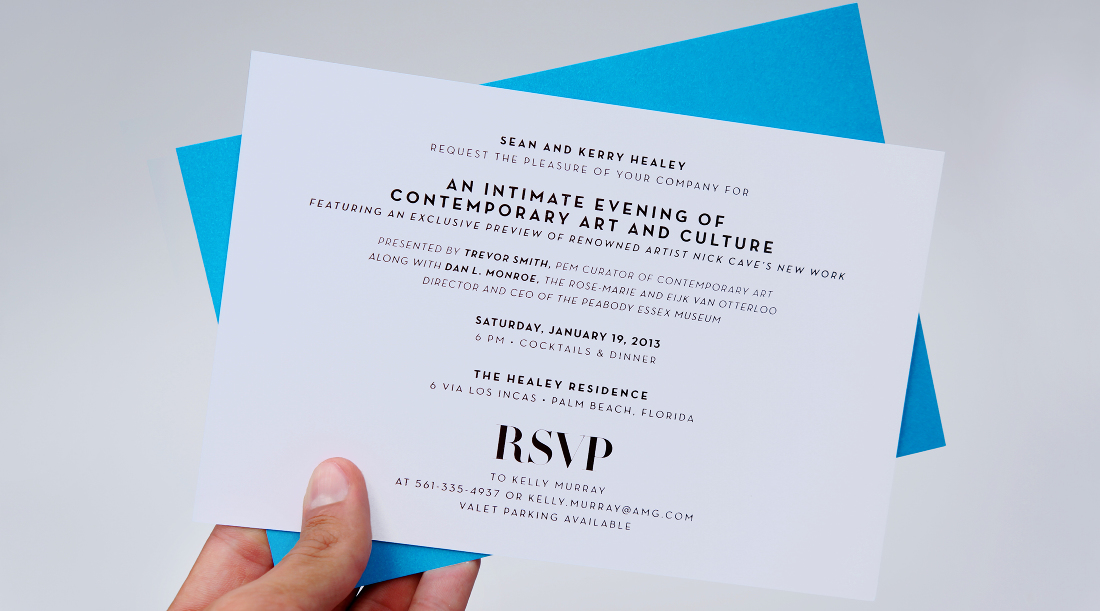 Miami beach invitation adam sherkanowski design invitation for a vip dinner on miami beach nick cave premiered his latest soundsuits with a special installation at the event stopboris Image collections